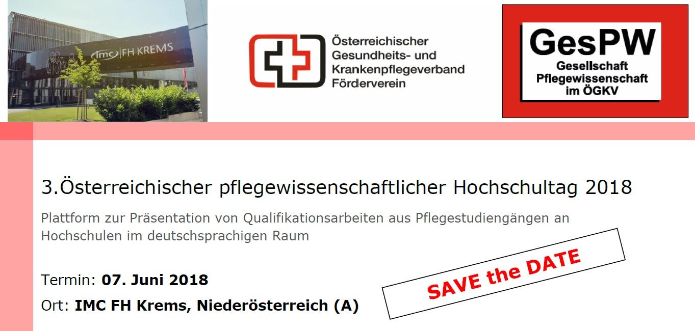 3. Österreichischer pflegewissenschaftlicher Hochschultag