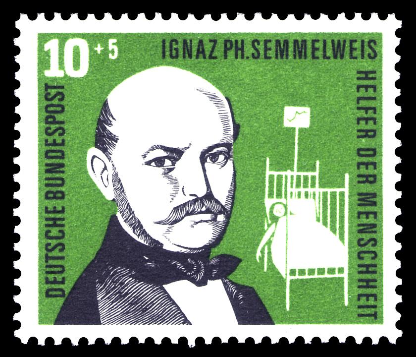 Semmelweis-Briefmarke BRD-1956