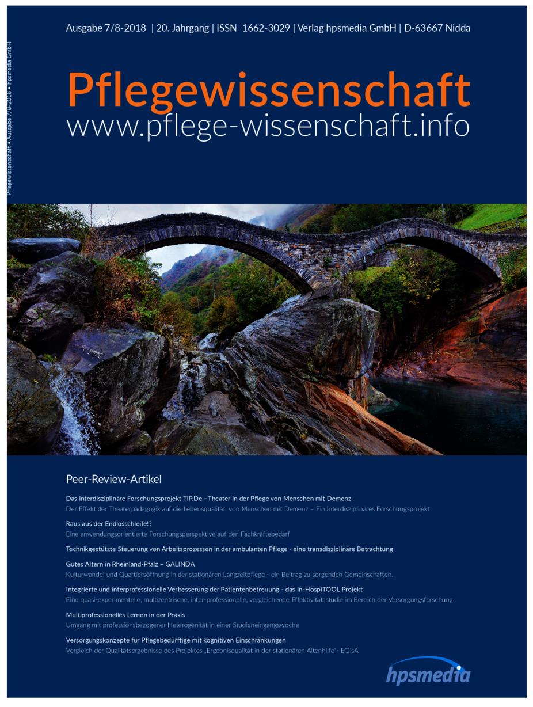 PFLEGEWISSENSCHAFT 07-08-2018