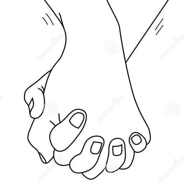 Händehalten-Grafik