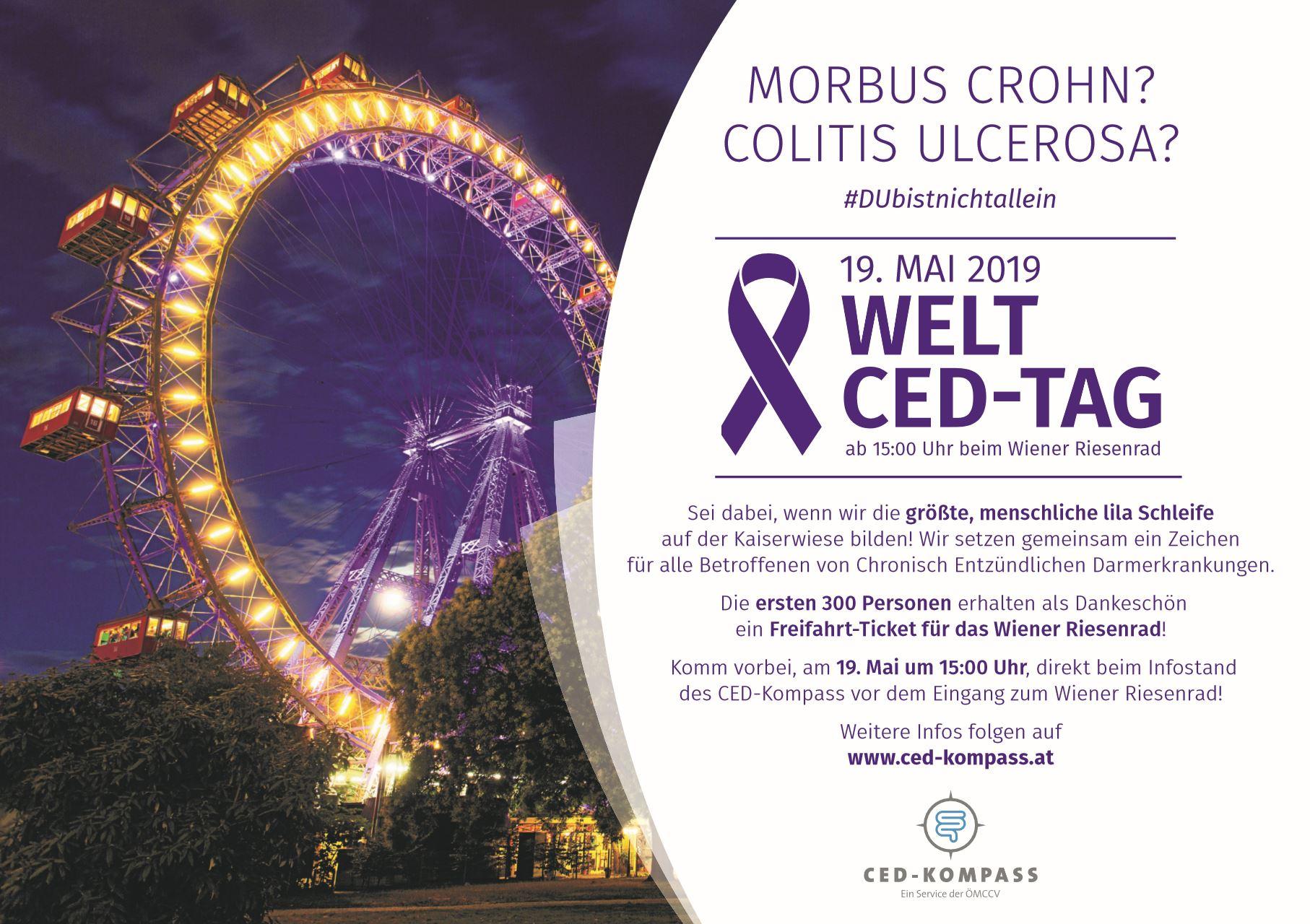 Welt-CED-Tag beim Wiener Riesenrad - hol dir dein Freifahrt-Ticket!