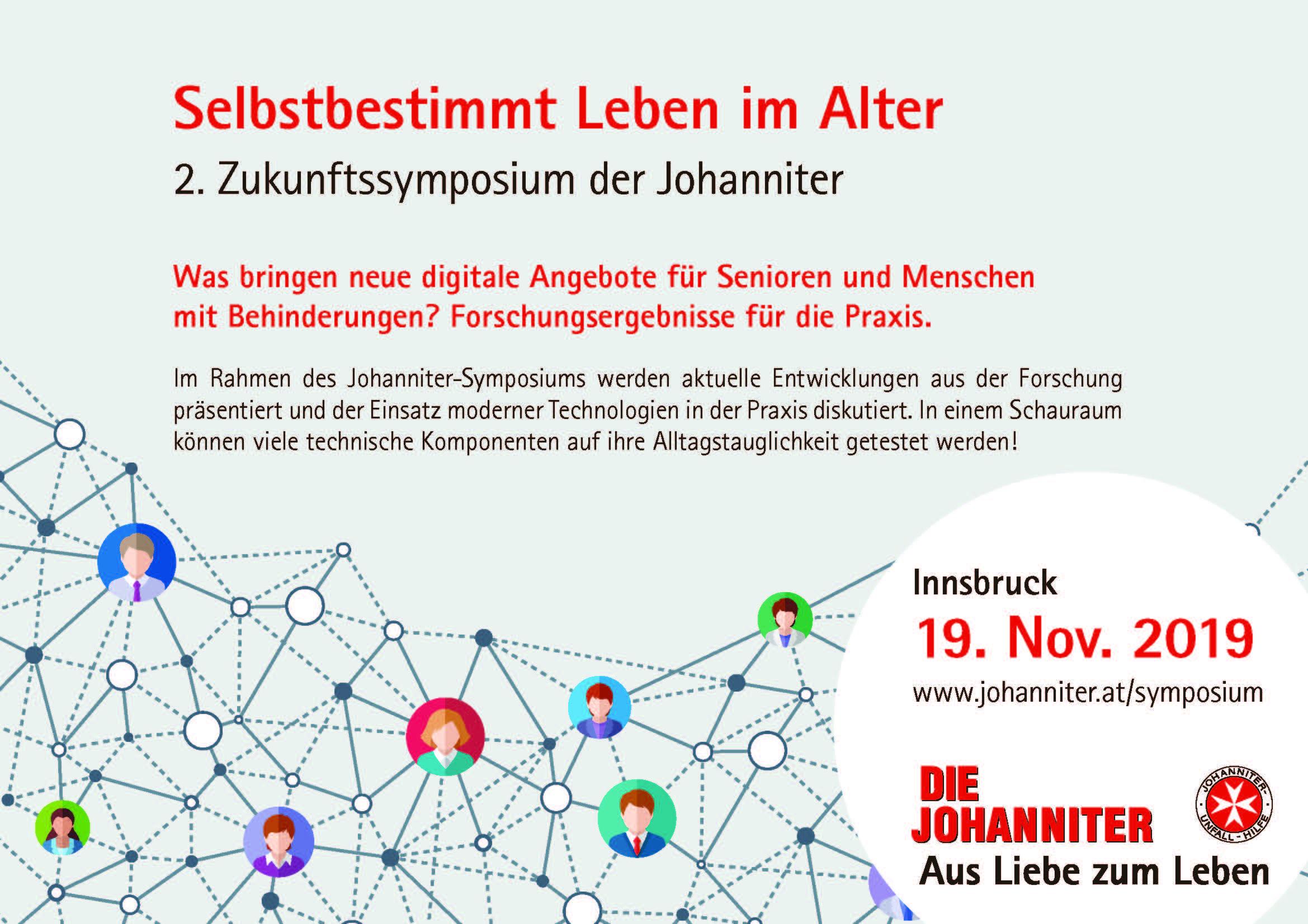 Selbstbestimmt leben im Alter - 2. Johanniter-Zukunftssymposium