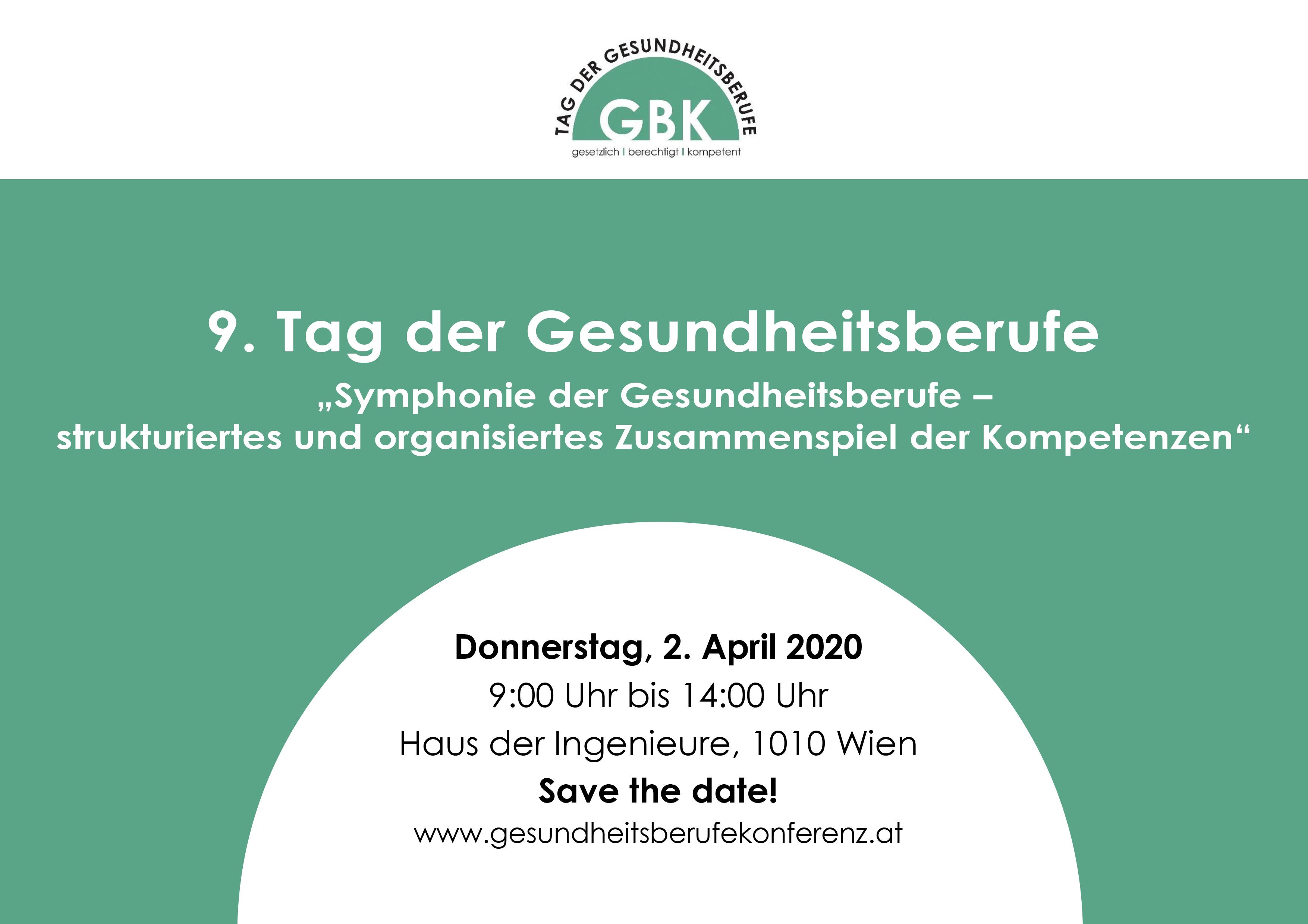 Gesundheitsberufekonferwenz 2020_Wien