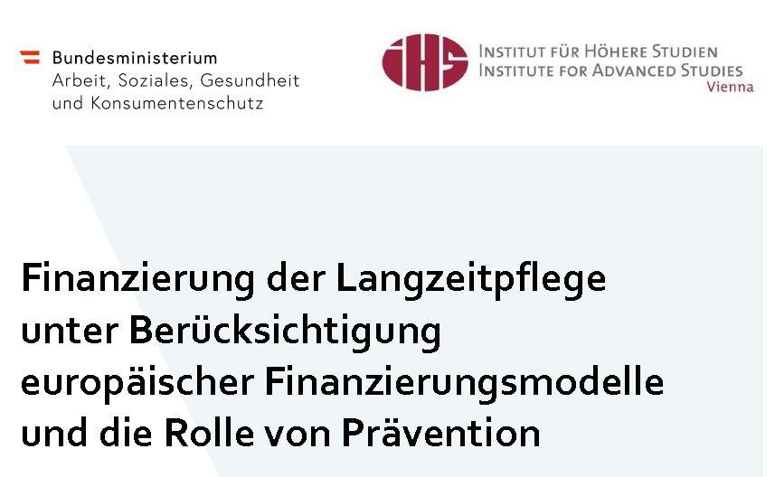 Studie Finanzierung Langzeitpflege Österreich 11-2019