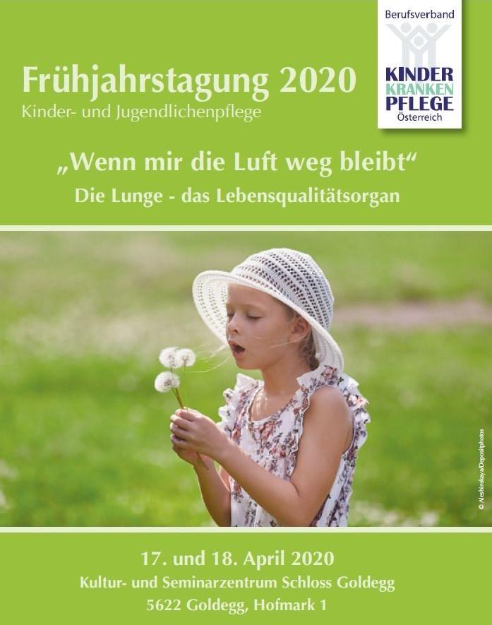 ABGESAGT: Frühjahrstagung 2020 - Berufsverband Kinderkrankenpflege Österreich