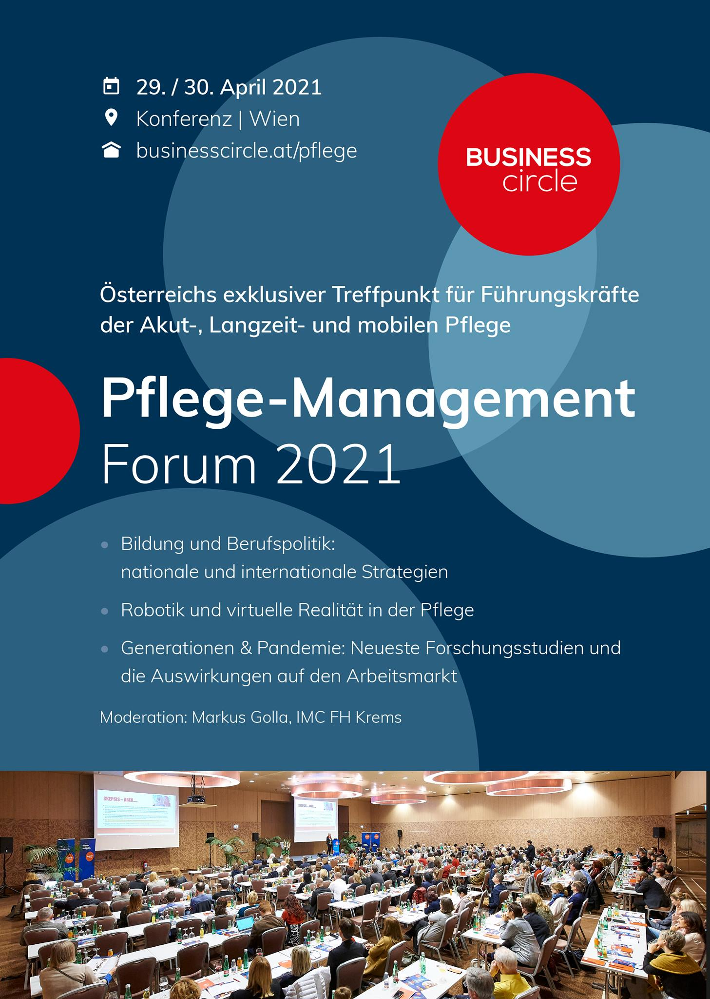 Pflegemanagement-Forum 2021 - Wien