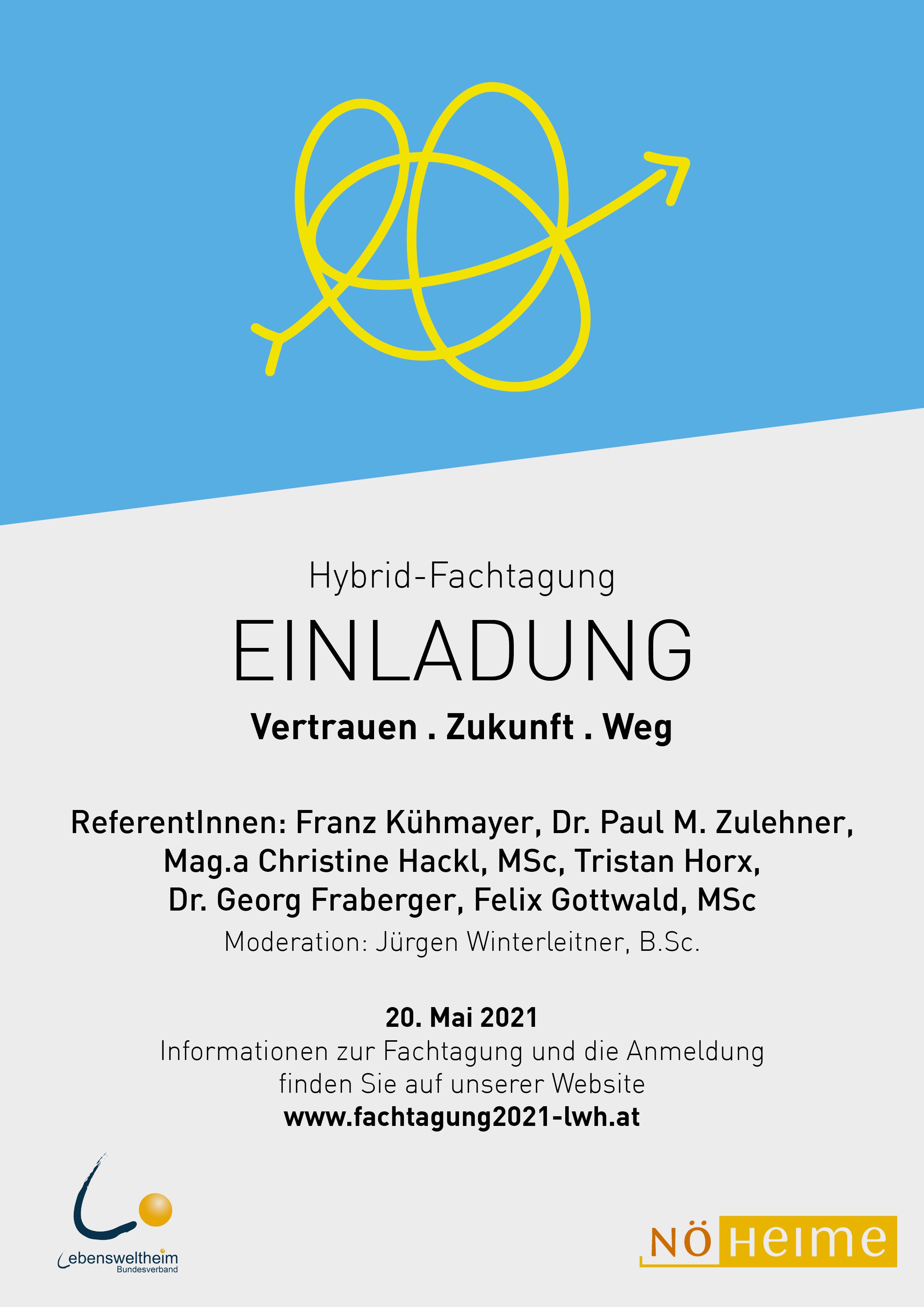 """Online-Fachtagung Lebenswelt Heim: """"Vertrauen.Zukunft.Weg"""""""